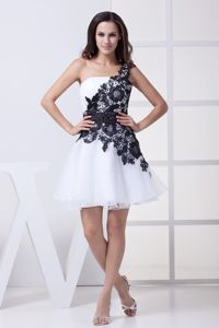 Lace One Shoulder Attractive Best Homecoming Dress Made in Atlanta