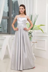 Newest A-line Floor Length Grey Beautiful Homecoming Dress for Juniors