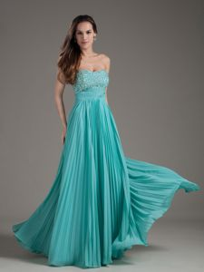 Wonderful Pleated Strapless Teenage Homecoming Dresses in Frankfort