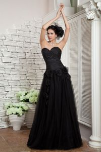 Modest Empire Sweetheart Best Homecoming Dress with Hand Flowers