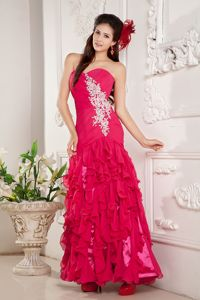 Cheap Special Ruffled Layers Ankle Length Beautiful Homecoming Dress
