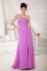 Lavender Empire Strapless Homecoming Dress with Beading in Augusta