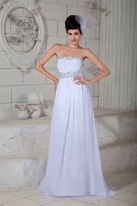 Latest Beaded Sweep Train Graceful Homecoming Long Dress in Providence