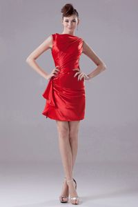 Cute Red Bateau Neck Mini-length Sparkly Homecoming Dress in New Orleans