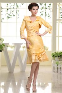 New Arrival Sweetheart Knee-length Homecoming Dresses for Juniors in Yellow