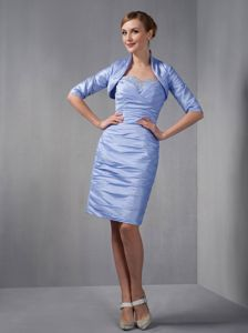 Ruched Sweetheart Knee-length Lilac Celebrity Homecoming Dress in Truckee