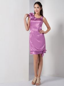 New Satin Square Mini-length Lavender Tight Homecoming Dress in California