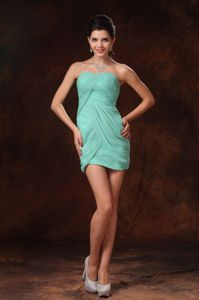 Turquoise Sweetheart Mini-length Homecoming Princess Dress in Kansas City