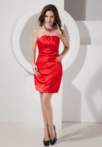 Luxurious Strapless Short Homecoming Dresses for Juniors ?in Red in Brookline