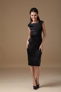 New Arrival Scoop Knee-length Black Celebrity Homecoming Dress in Danvers