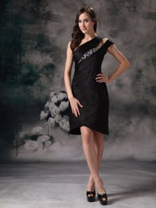 Brand New Asymmetrical Knee-length Designer Homecoming Dresses in Black