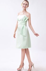 Mini-length Apple Green Column Strapless Celebrity Homecoming Dress
