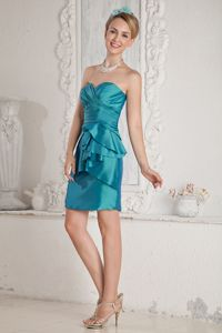 Special Sweetheart Teal Homecoming Princess Dresses with Layers in Bath