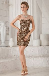 Sexy Leopard Sweetheart Short Evening Homecoming Dresses in Clevedon
