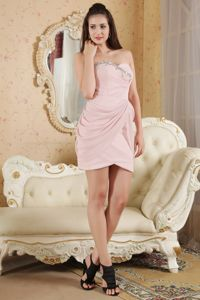 Brand New Pink Sweetheart Beaded Short Homecoming Dresses On Sale