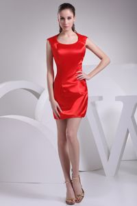 New Arrival Scoop Neck Red Mini Homecoming Queen Dress under 100
