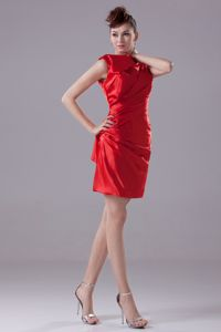 Custom Made Ruched Red Mini Celebrity Homecoming Dress Fast Shipping
