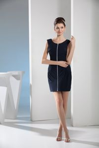 Tight Scoop Neck Black Mini Homecoming Cocktail Dress for a Cheap Price