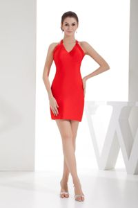 Crisscross Back Mini Red Satin Homecoming Dance Dress in Cary USA