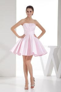 Lovely Baby Pink Mini Homecoming Queen Dresses with Puffy Hem