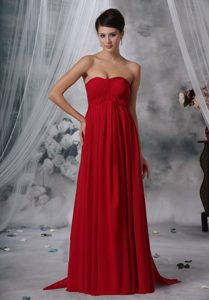 Vintage Watteau Train Empire Red Long Homecoming Dresses under 150