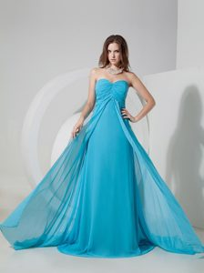 Brush Train Sweetheart Aqua Blue Homecoming Dress for a Cheap Price