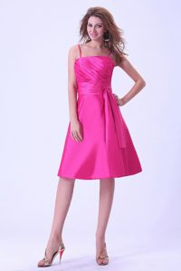 Zipper-up Knee-length Hot Pink Homecoming Dance Dresses under 150