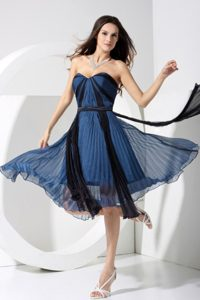 Free Shipping Pleated Blue Short Homecoming Dress in Bristol Indiana