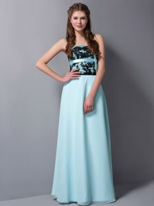 Appliqued Light Blue Party Dress for Homecoming in Winter Garden Fl