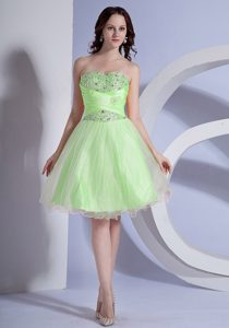 Beaded Sweetheart Spring Green Designer Homecoming Dress Modesto