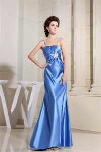 Beaded Sky Blue Taffeta Junior Homecoming Dress with Straps Milpitas