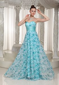 Aque Blue Sweetheart Tight Homecoming Dress with a Sash Berkeley
