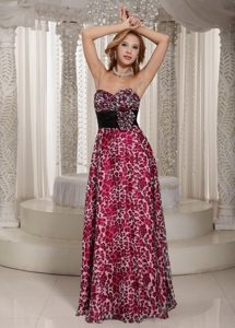 Sweetheart Multi-color Evening Homecoming Dress with a Black Sash