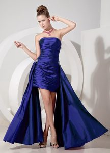 Nashua Strapless Appliques Ruched Column Homecoming Court Dresses