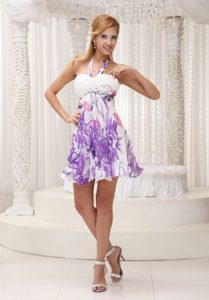Colorful Halter top Column Short Vintage Homecoming Dresses in Eureka