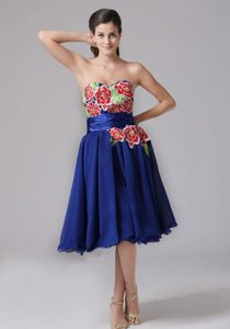 Blue Sweetheart A-line knee-length Tight Homecoming Dress in Encinitas
