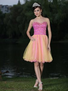 Multi-color Sweetheart Organza Homecoming Court Dresses in Venice