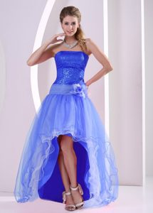 High-low Strapless A-line Organza Camarillo Evening Homecoming Dress