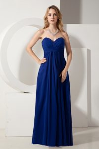 Royal Blue Sweetheart Beaded Ruched Floor-Length Homecoming Dress in Victoria