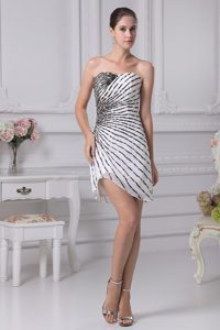 Sweetheart Column Mini-length Beading Homecoming Dresses On Sale