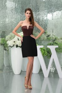 Black and Brown Slot Neck Sheath Homecoming Dance Dresses in USA