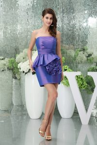 Mini-length Strapless Purple Homecoming Dresses For Miliary Ball