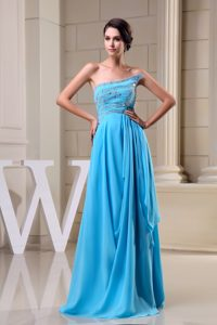 Baby Blue Empire Beading Strapless Homecoming Dress in Kansas USA