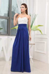 Blue Beading Sweetheart Homecoming Dress Floor-length in AL USA